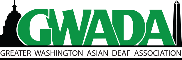 Logo of Greater Washington Asian Deaf Association